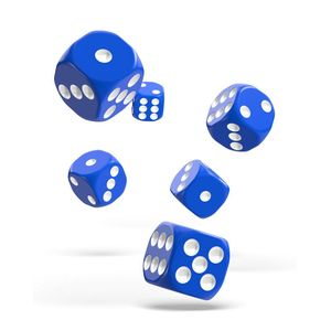 [Oakie Doakie Dice: D6 Dice 12 Set: Solid Blue (Product Image)]