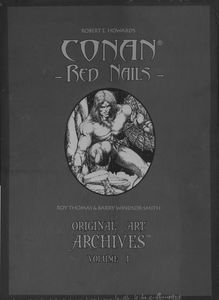 [Conan Red Nails: Original Art Archives (Hardcover) (Product Image)]