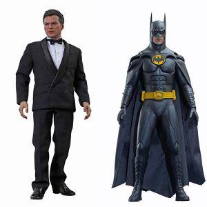 [Batman Returns: Hot Toys Deluxe Action Figure Set: Batman & Bruce Wayne (Product Image)]