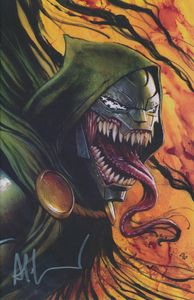 [Invincible Iron Man #11 (Signed Granov Virgin Venomized Variant) (Product Image)]