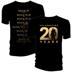 [Halo: Anniversary Collection: T-Shirt: Game Dates (Product Image)]