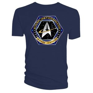 [Star Trek: Voyager: T-Shirt: Starfleet Command (Navy) (Product Image)]