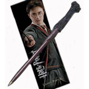 [Harry Potter And The Deathly Hallows: Harry Wand Pen and Bookmark Set (Product Image)]