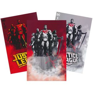 [Justice League #1 (Forbidden Planet Exclusive & Jetpack Jock Variant Cover Set - Signed) (Product Image)]