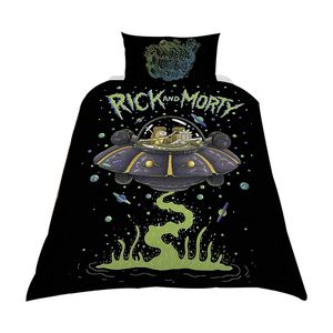 [Rick & Morty: Single Duvet Cover Set: UFO Spaceship (Product Image)]