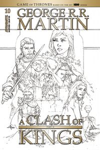 [George R.R. Martin's A Clash Of Kings #10 (Rubi Black & White Variant) (Product Image)]