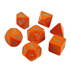 [Lab Dice: Poly Set Of 7 (Heavy / Orange Turquoise) (Product Image)]