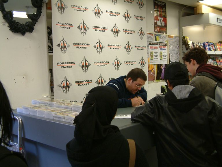 Nick Frost Signing