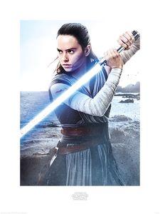 [Star Wars: The Last Jedi: Art Print: Rey Engage (Product Image)]
