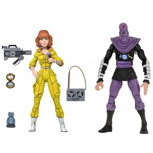 [Teenage Mutant Ninja Turtles: Action Figure 2-Pack: Cartoon April Oneil & Foot (Product Image)]