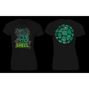 [Teenage Mutant Ninja Turtles: Women's Fit T-Shirt: Half Shell Quote (Line Art) (Product Image)]