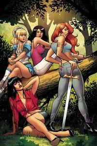 [Red Sonja & Vampirella Meet Betty & Veronica #7 (Sanapo Virgin Variant) (Product Image)]