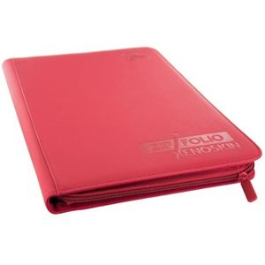 [Card Guard: 9-Pocket Zipfolio Xenoskin: Red (Product Image)]