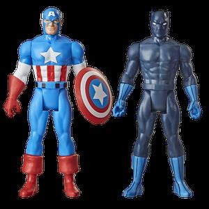 [Avangers: Marvel Legends Retro Action Figure 2 Pack: Black Panther & Captain America (Product Image)]
