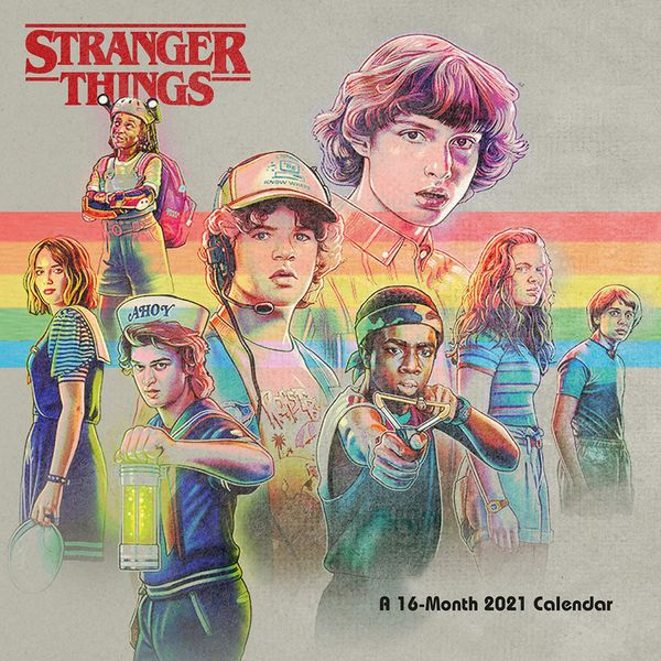[The cover for Stranger Things: 2021 Square Calendar]