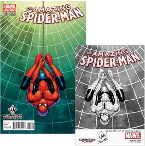 [Amazing Spider-Man #1 (Forbidden Planet Variant Signed Mini Print Edition) (Product Image)]