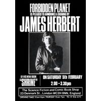 [James Herbert signing Shrine (Product Image)]