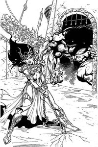 [Dejah Thoris: 2019 #7 (Castro Black & White Virgin Variant) (Product Image)]