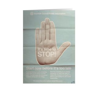 [Scarfolk: Greetings Card: Stop! (Product Image)]