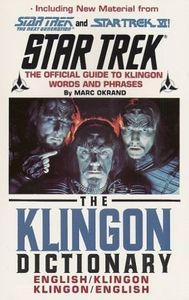 [The Klingon Dictionary (Product Image)]