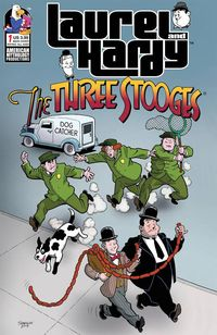 [The cover for Laurel & Hardy Meet The Three Stooges #1 (Cover A Shanower)]
