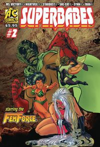 [The cover for Superbabes: Starring Femforce #2]