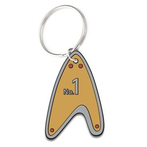 [Star Trek: Picard: Dog Tag Keychain: Number 1 (Product Image)]