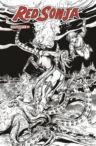 [Red Sonja #21 (Black & White Variant) (Product Image)]