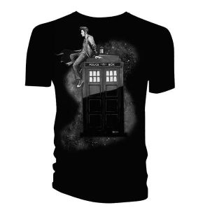 [Doctor Who: T-Shirts: 10th Doctor On TARDIS (Product Image)]