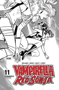 [Vampirella/Red Sonja #11 (Romero & Bellaire Black & White Variant) (Product Image)]