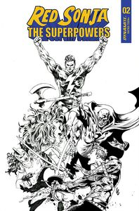 [Red Sonja: The Superpowers #2 (Lau Black & White Variant) (Product Image)]