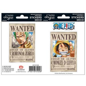 [One Piece: Stickers: Wanted Luff & Zoro (Product Image)]
