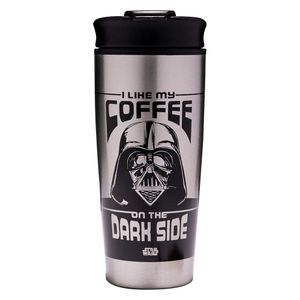 [Star Wars: Metal Travel Mug: I Like My Coffee On The Dark Side (Product Image)]