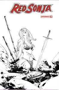 [Red Sonja #24 (Lee Black & White Variant) (Product Image)]