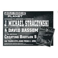 [J. Michael Straczynski and David Bassom signing Creating Babylon 5 (Product Image)]
