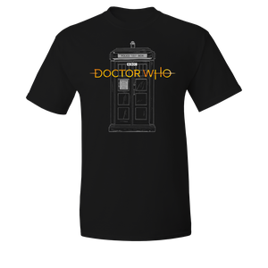 [Doctor Who: T-Shirt: 13th Doctor Logo & TARDIS (Product Image)]