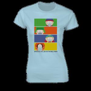 [South Park: Women's Fit T-Shirt: #Socialdistancing (Product Image)]