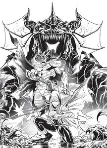 [Power Rangers Unlimited: Heir To Darkness #1 (Cover E Mora B&W Unlockable Variant) (Product Image)]