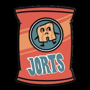 [Hilda: Enamel Pin Badge: Jorts Packet (Product Image)]