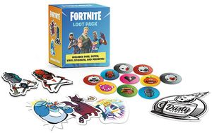 [Fortnite Loot Pack: Includes Pins, Patch, Vinyl Stickers, & Magnets! (Product Image)]