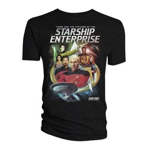 [Star Trek: The Next Generation: T-Shirt: The Crew & Badge (Product Image)]