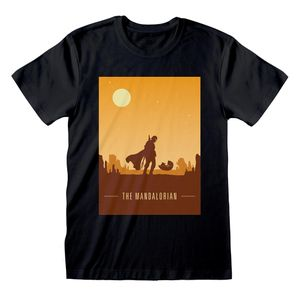 [Star Wars: The Mandalorian: T-Shirt: Retro Poster (Product Image)]
