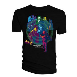 [Doctor Who: The Saga Collection T-Shirt: 10th Doctor & Martha (Product Image)]