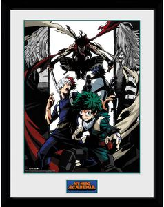 [My Hero Academia: 30x40 Framed Print: Heroes & Villians (Product Image)]