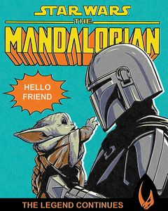 [Star Wars: The Mandalorian: 40x50 Canvas Print: Hello Friend (Product Image)]