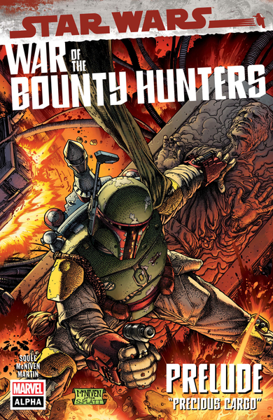 [The cover for Star Wars: War Of The Bounty Hunters Alpha #1]