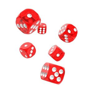 [Oakie Doakie Dice: D6 Dice 12 Set: Translucent Red (Product Image)]