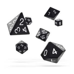 [Oakie Doakie Dice: RPG 7 Set: Solid Black (Product Image)]