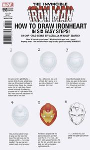 [Invincible Iron Man #593 (Legacy) (Zdarsky How To Draw Variant) (Product Image)]