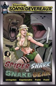 [Starring Sonya Devereaux: Spider-shark Vs. Snake-bear (Main Cover) (Product Image)]
